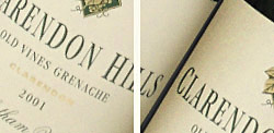 Clarendon Hills Old Vines Grenache  2001
